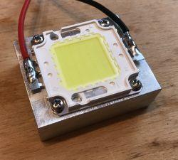 50W COB 30V-36V LED minitest from China - will it really be 50W?