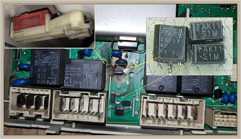 Indesit IWSC 5105 - Zablokowane drzwiczki, zwarcie w instalacji