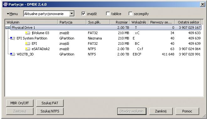 partycja NTFS zmieniona na chronion� GPT - dysk niewidoczny - co robi�?
