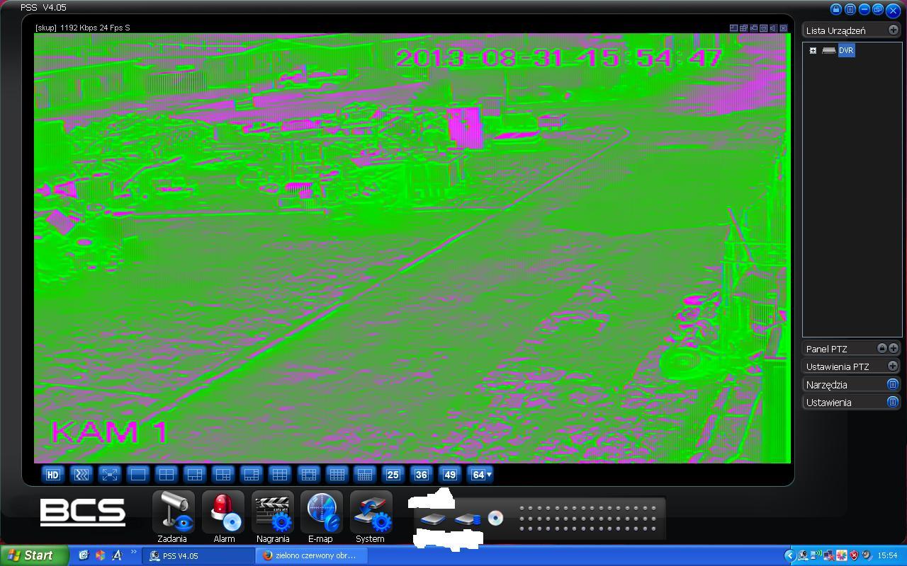 """Pss program - Zielony obraz w programie """"pss"""" program do rejestrator�w"""