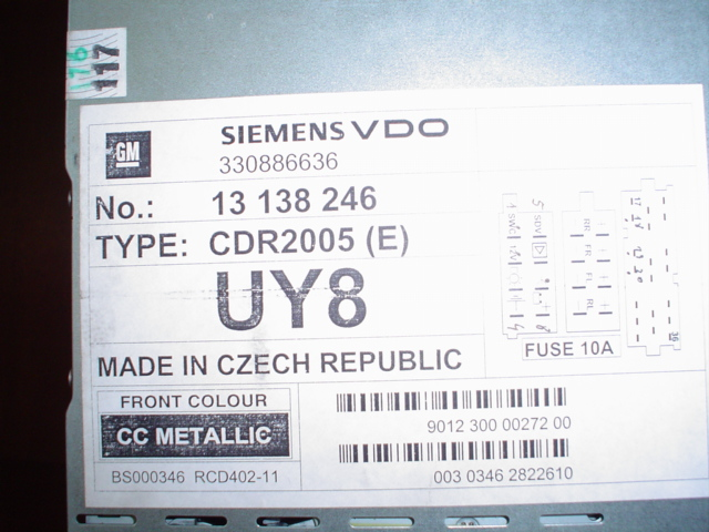 [Sprzedam] radio cdr2005 siemens vdo opel// wy�wietlacz gid