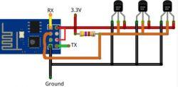 Pomiar temperatury z dwóch czujników DS18b20 po WiFi