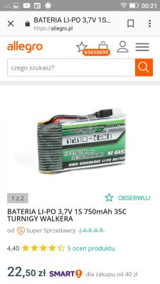 Spadek napięcia bateria Li-poli 3,7V?