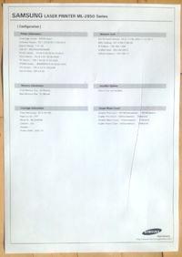 Samsung ML-2850 - Czasami zmięty papier wzdłuż