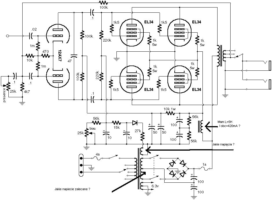 Potrzebuj� pomocy przy budowie wzmacniacza lampowego 4xEL34