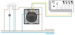 Konfiguracja oświetlenia zewnętrznego z przyciskiem oraz pilotem od alarmu
