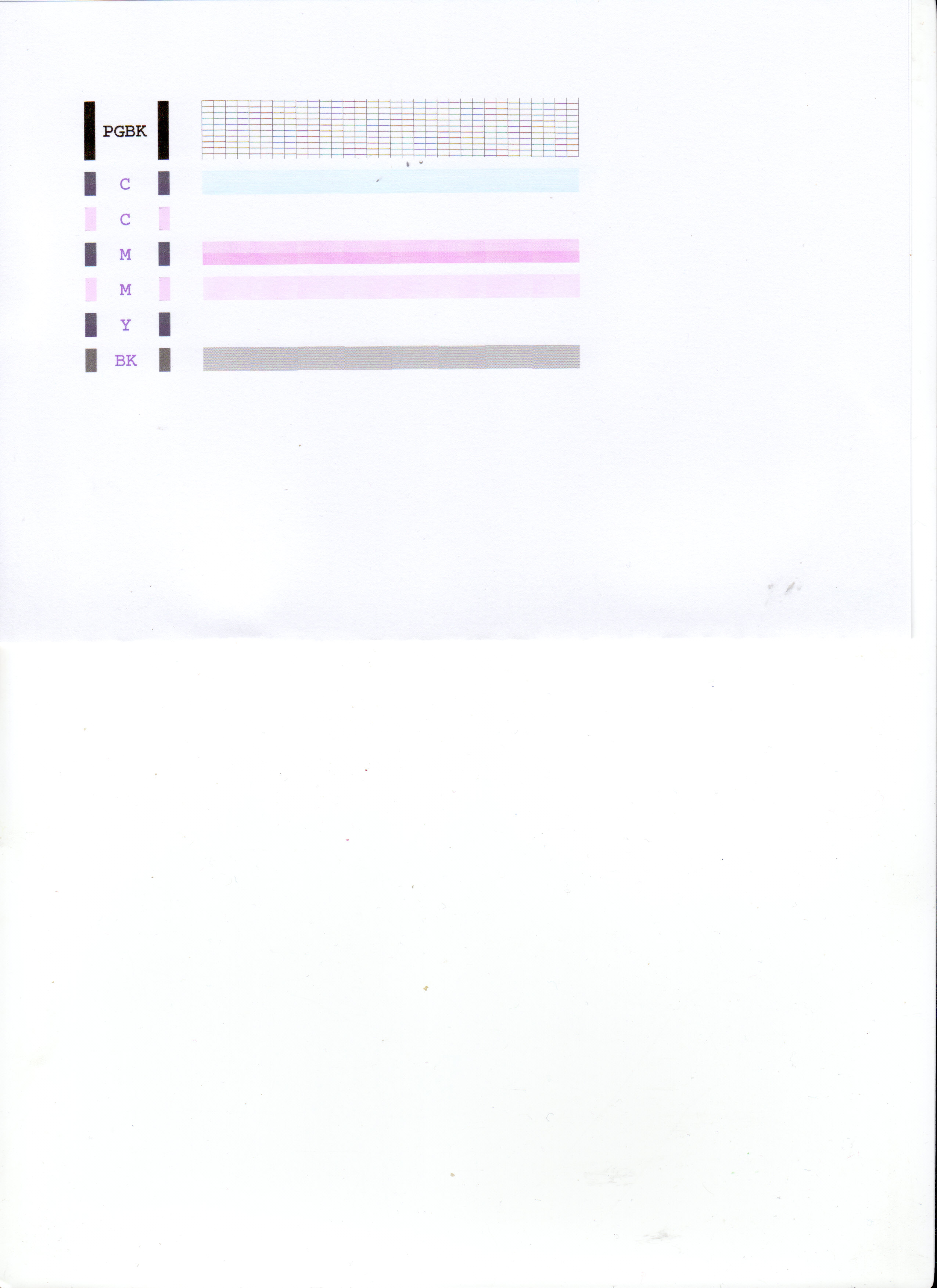 MP 500 - Brak niekt�rych kolor�w , a wydrukowane nie s� intensywne