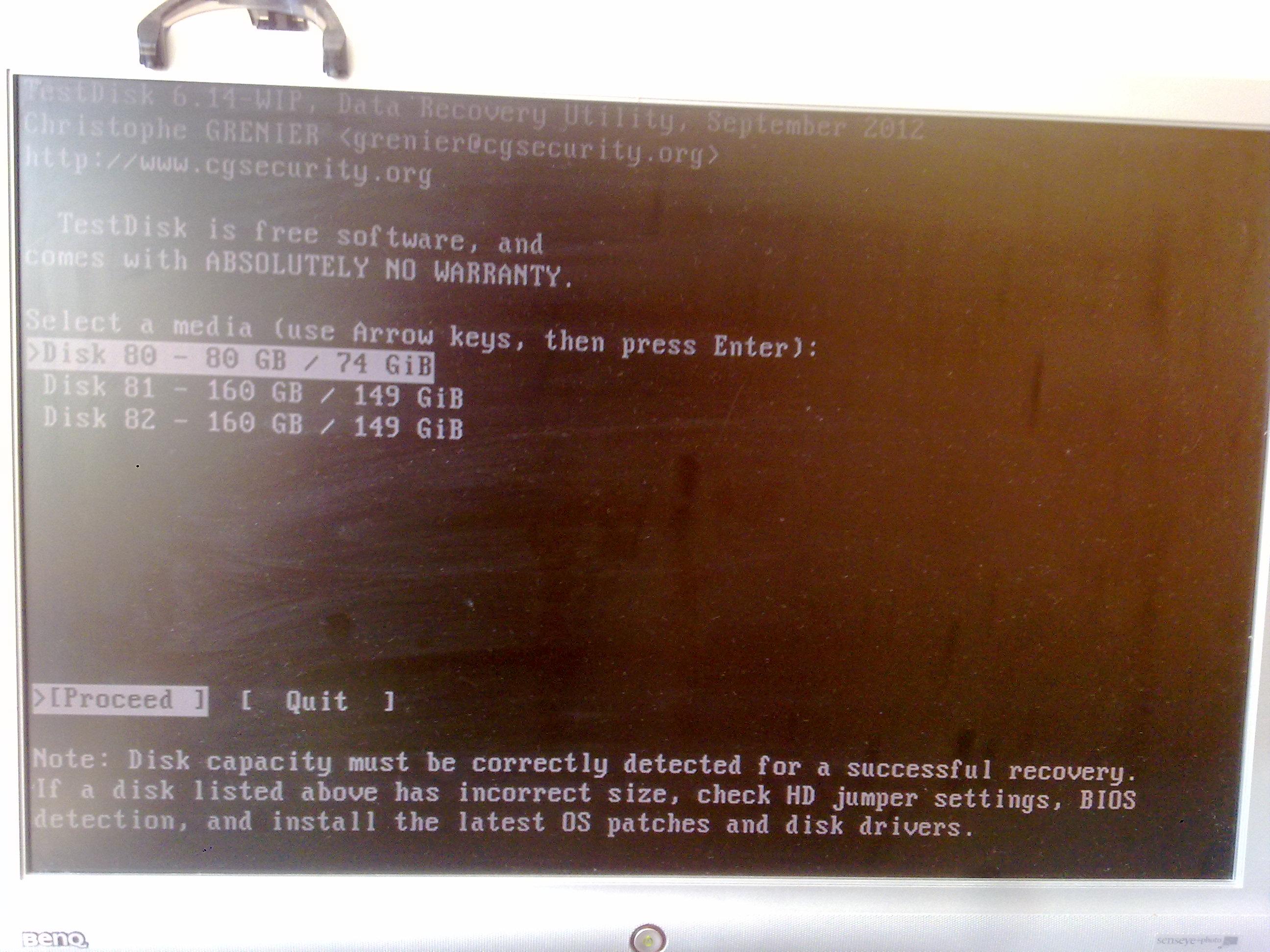TestDisk - instrukcja co dalej robi�