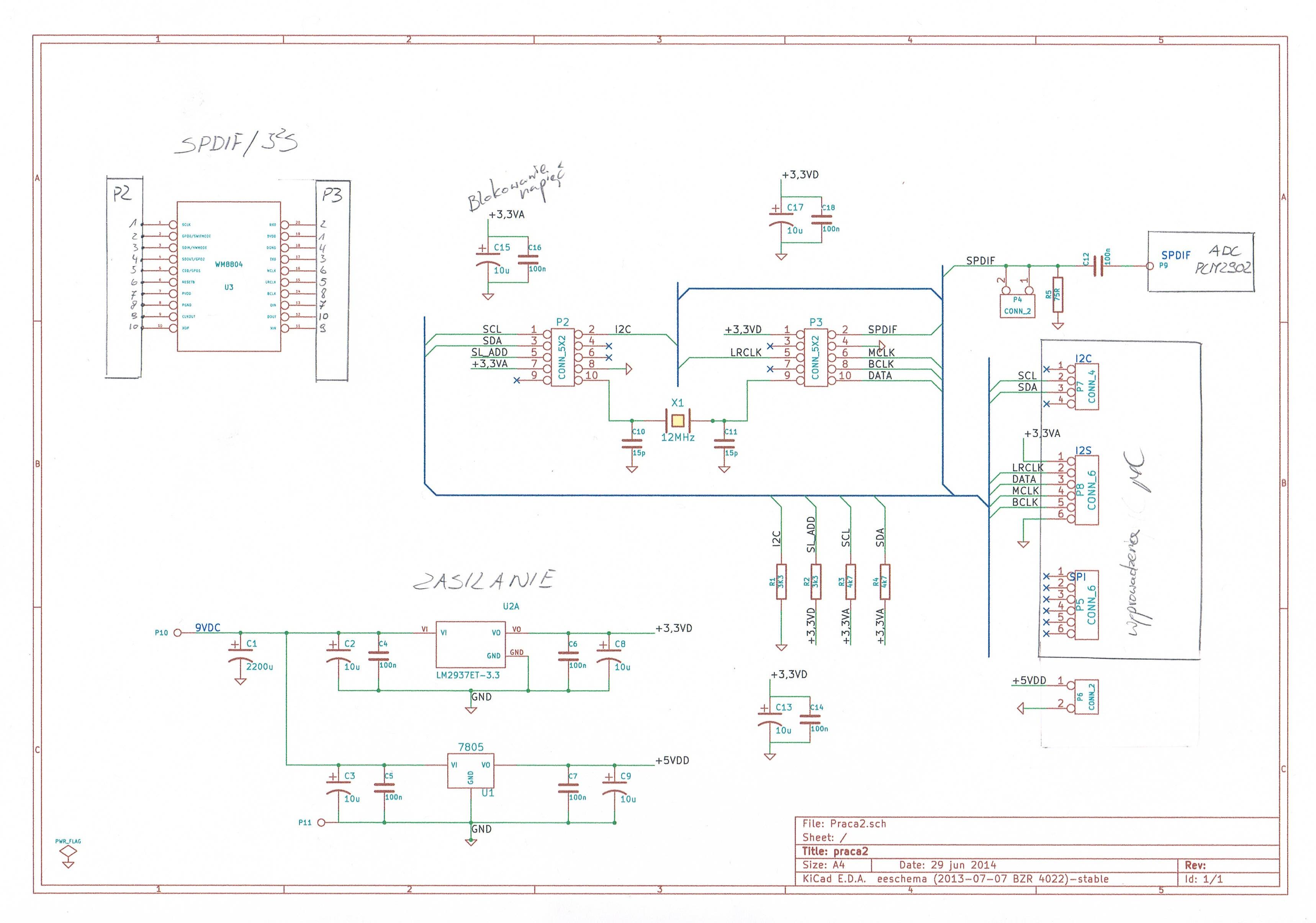 STM32F107_I2C - komunikacja z uk�adem WM8804 w trybie programowalnym