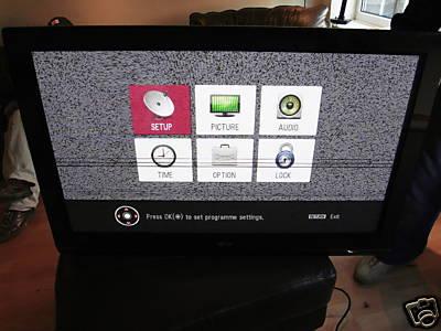 LG 42PG3000 poziome czarne paski