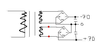 Stabilizator LM7812 a napięcie 70V