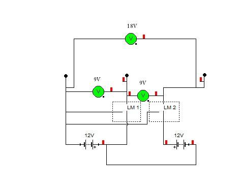 Akumulator 12V do wykrywacza na 2x 9V dobry schemat?