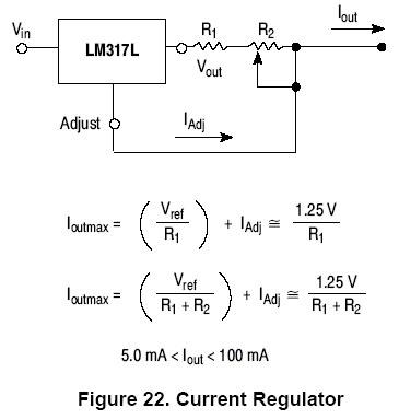 Źródło prądowe LM317-rezystor sterujący grzeje się mocno