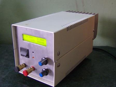Prezentacja wykonanego zasilacza 0-30V z LCD.