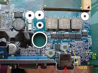 Uszkodzona płyta Dell M90 podłączyłem zasilacz z inną polary
