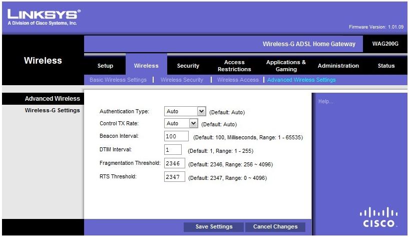 wag200g firmware version 1.01.09