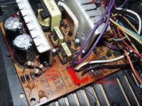Zasilacz ATX NONAME - spalony termistor