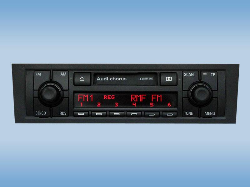 Wprowadzanie kodu Radio Chorus II AUDI 3 8P
