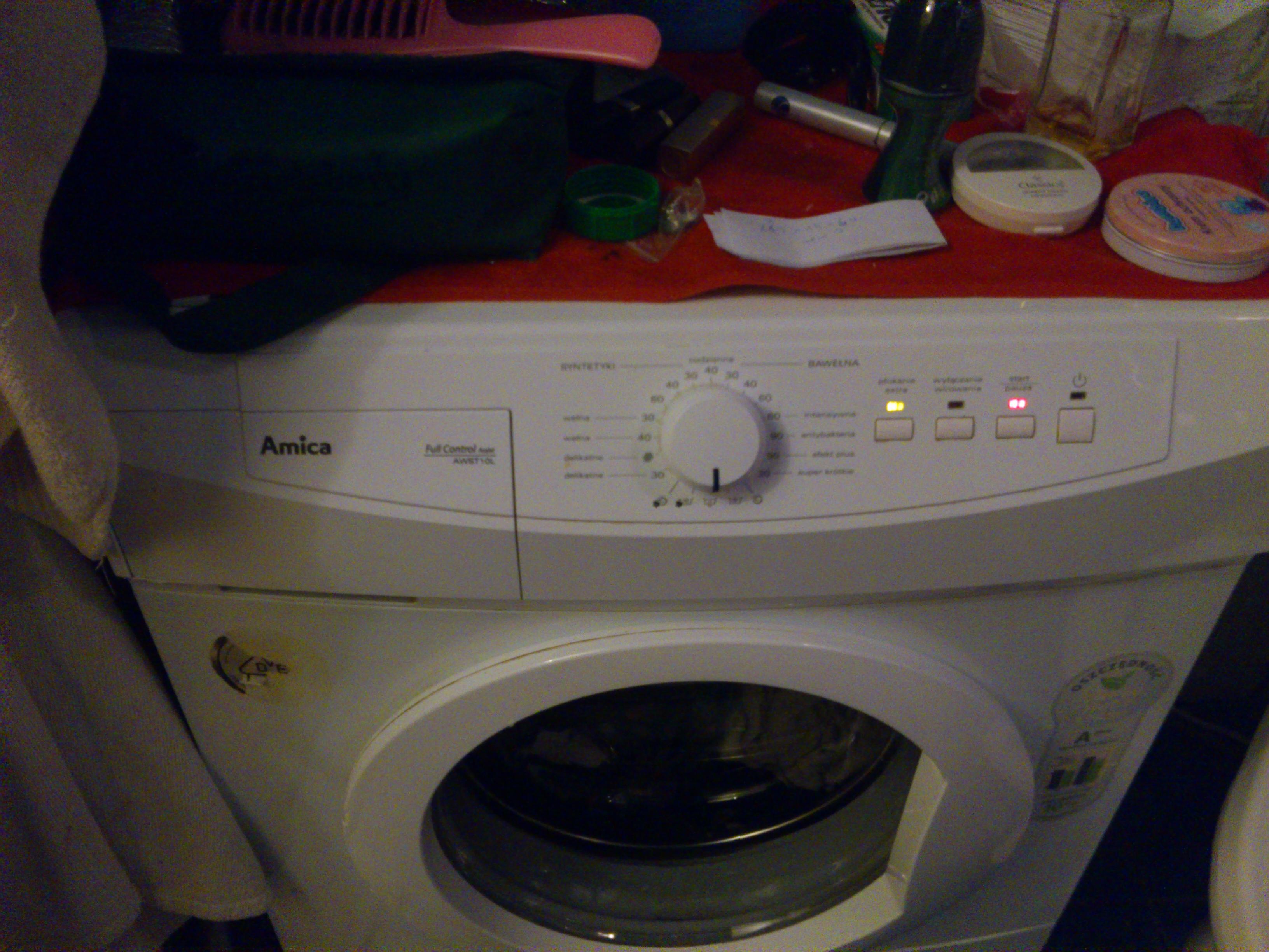 Amica AWST10L - Kod b��du, pralka nie odpompowuje wody