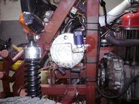 Instalacja gazowa w silniku chłodzonym powietrzem