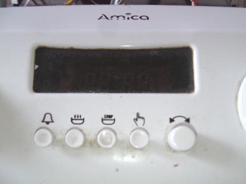 Kuchenka AMICA elektryczna  zalana, uszkodził się zegar i nie działa piekarnik # Kuchenka Elektryczna Amica Nie Grzeje