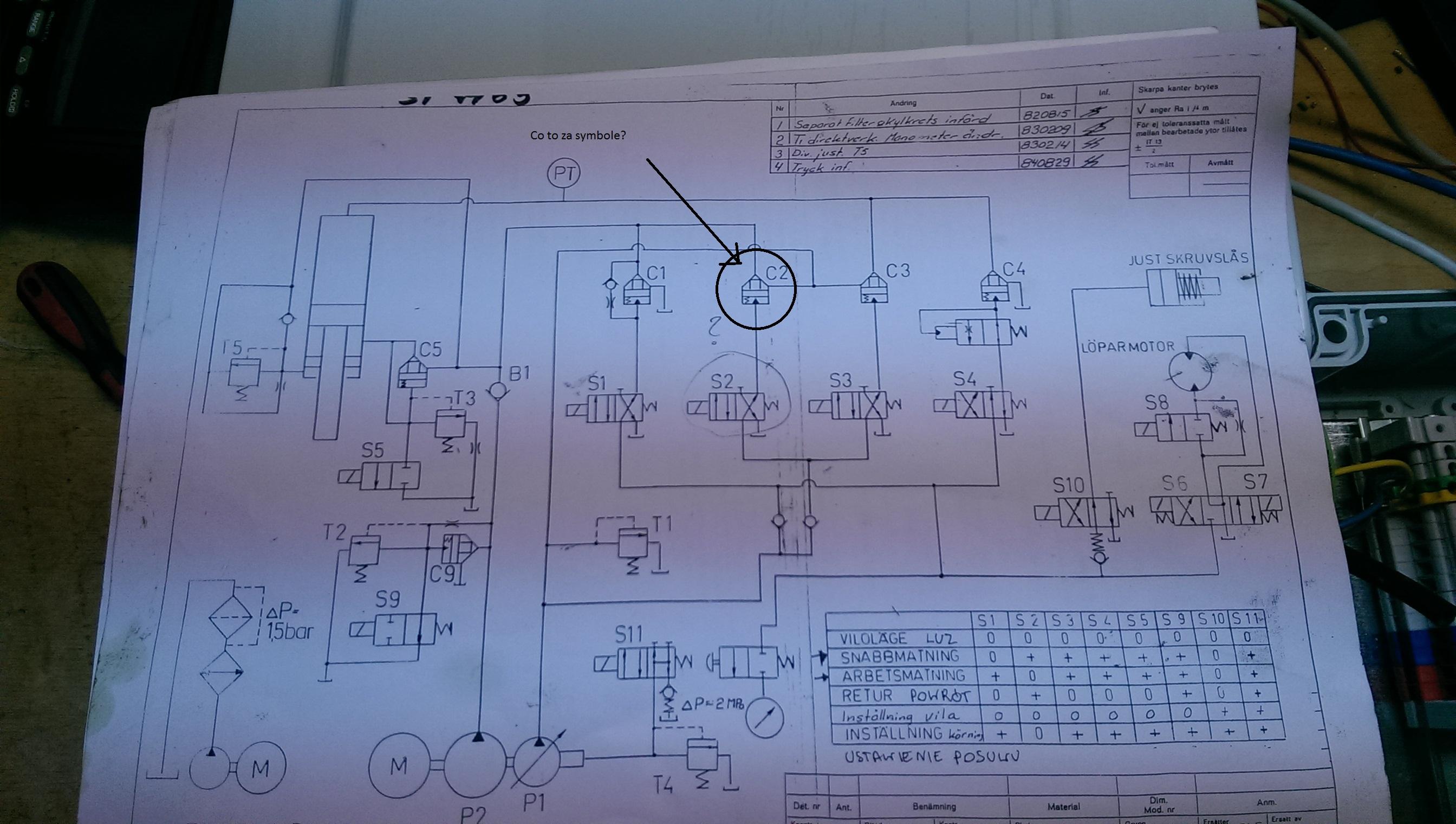 Schemat hydrauliczny - Co to za symbol?