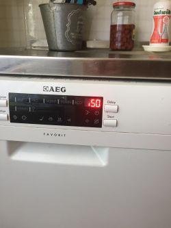 Zmywarka AEG F77023WOP - kod błędu i50, zmywarka nie wypompowuje wody