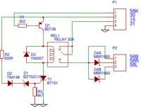 Automatyczny włącznik świateł DRL schemat