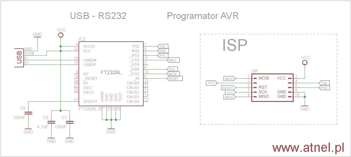 eclipse   avr programmer based on ft232rl