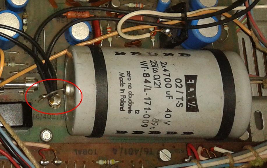 Diora WS 301 - Wymiana kondensatora filtruj�cego (diora ws 301s trawiata)