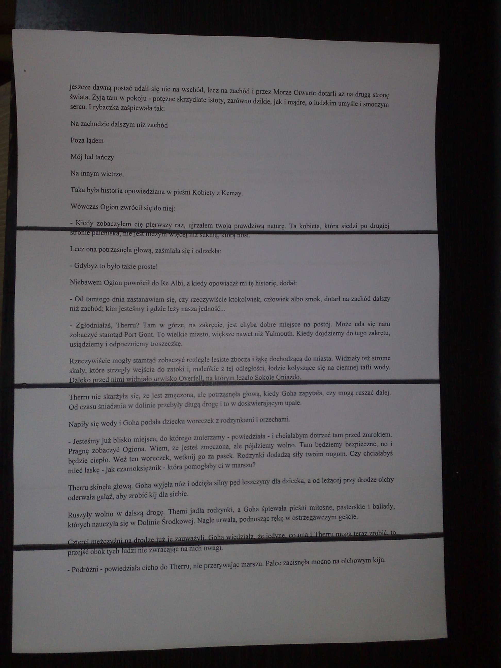 Poziome pasy LaserJet 1010