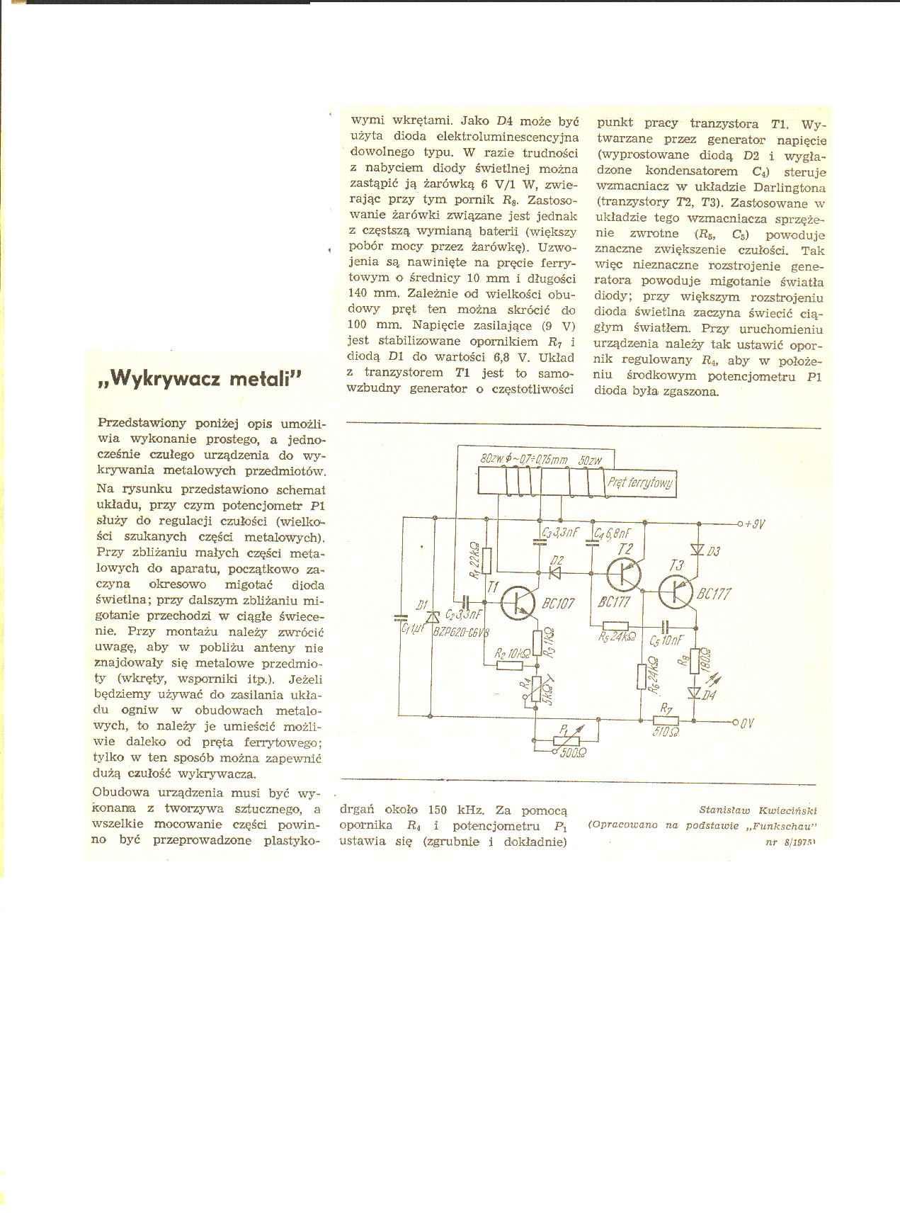AVT1104 - Wykrywacz metalu, kilka pyta�