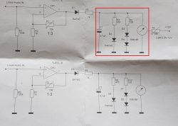 Wskaźnik wysterowania VU-metr wskazówkowy