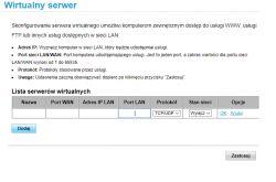 Przekierowanie portów routerów - Monitoring przez Internet.