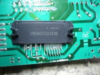 Spalona przetwornica częstotliwości w pralce Bosch WAS 24462PL/04