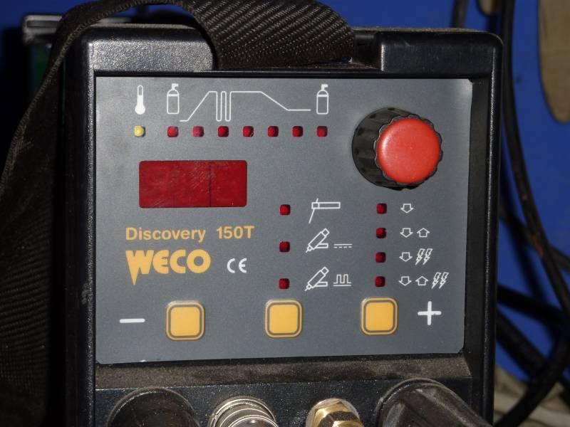 Ustawienia TIG Discovery 150T do nierdzewki