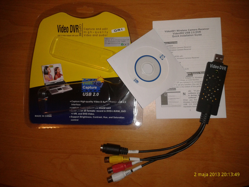 Video DVR grabber + program do niego