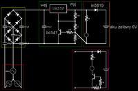 Ładowanie akumulatora żelowego 6V 4.5Ah prądnicą 3 fazową z ograniczeniem prądu