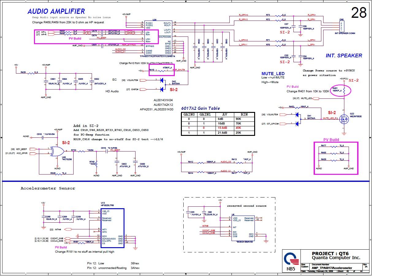 HP Pavilion DV5 - Brak dzwi�ku w  glo�nikach HP DV5 / Quanta QT6