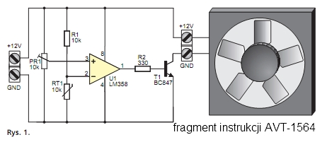 Zmiana termistora na schemacie