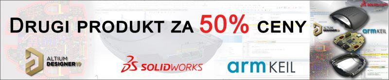 Altium, SolidWorks, armKeil Promocja - drugi produkt za 50% ceny
