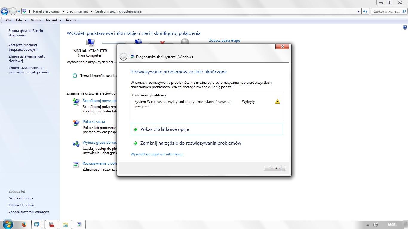 laptop acer - brak po��czenia z sieci�