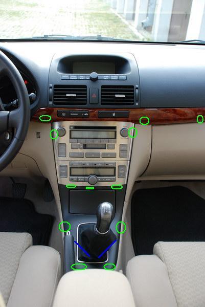 Toyota Avensis 2006r. podświetlenie pokrętła nadmuchu