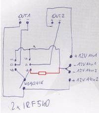Włącznik na IRF540 , problem z MOSFET-em