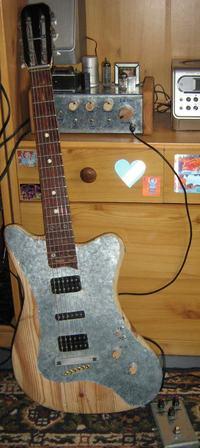 Gitara elektryczna + wzmacniacz lampowy + efekt by DaKKi
