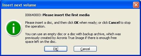 Acronis True Image 9 - problem z nagrywaniem na DVD