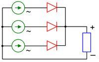 Mostek prostowniczy 3 fazy. Czy dobrze schemat?