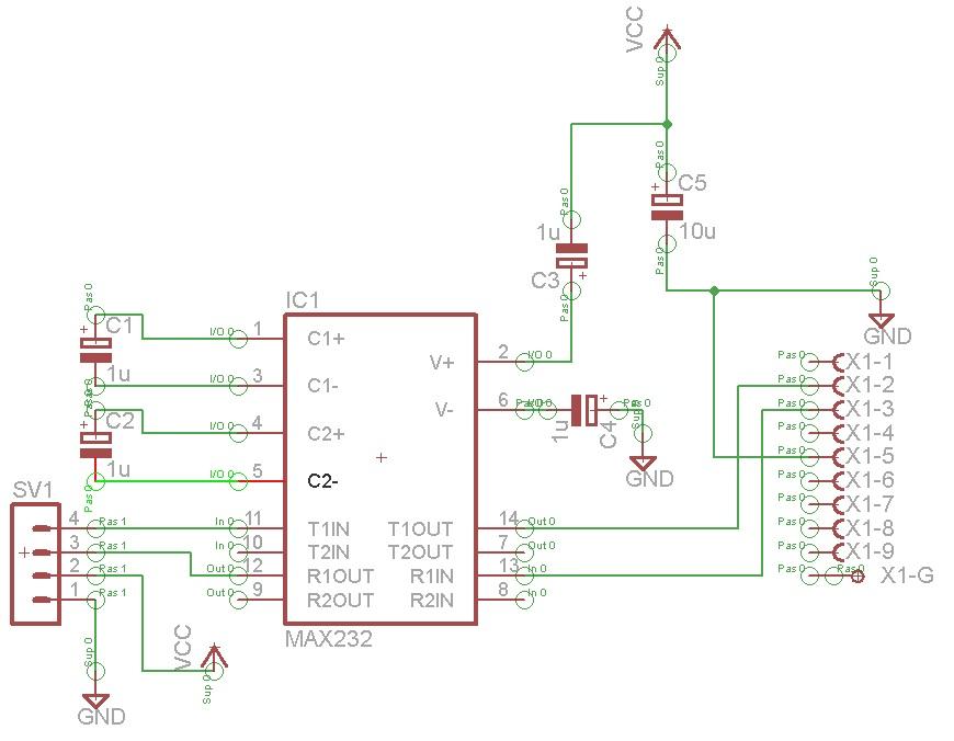 Pro�ba o sprawdzenie schematu - Max 232