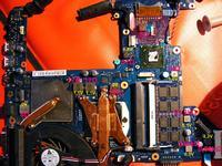 Samsung RF511 - nagrzewająca się cewka i brak obrazu