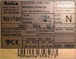 Amica ACZ 3104 - agregat rzadko się wyłącza, oblodzenie, szumy